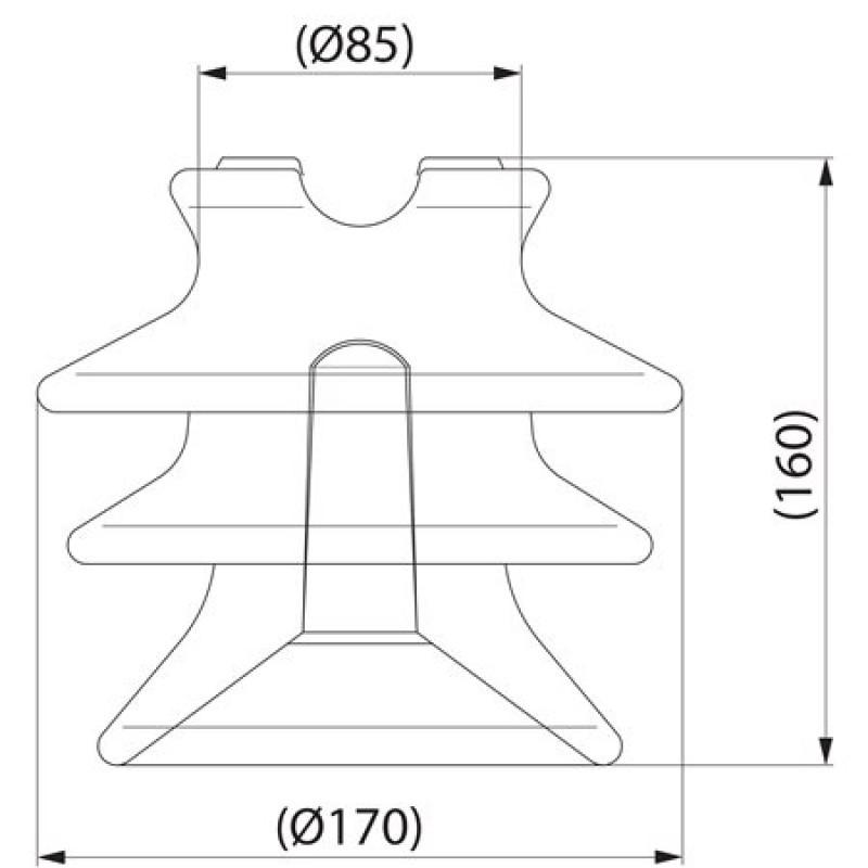Штирьовий фарфоровий ізолятор SDI30