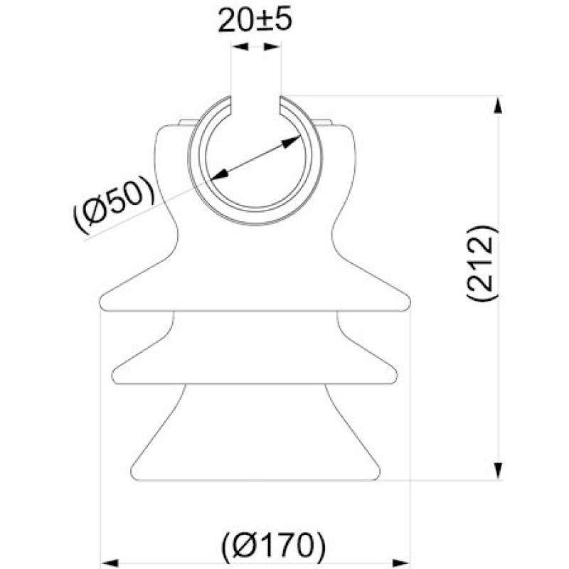 Штирьовий фарфоровий ізолятор  SDI37