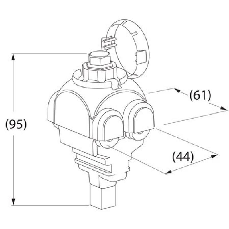 Затискач для ізоляції  дротів SE46.1