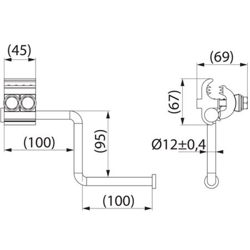 Пристрій тимчасового заземлення SEW21.3