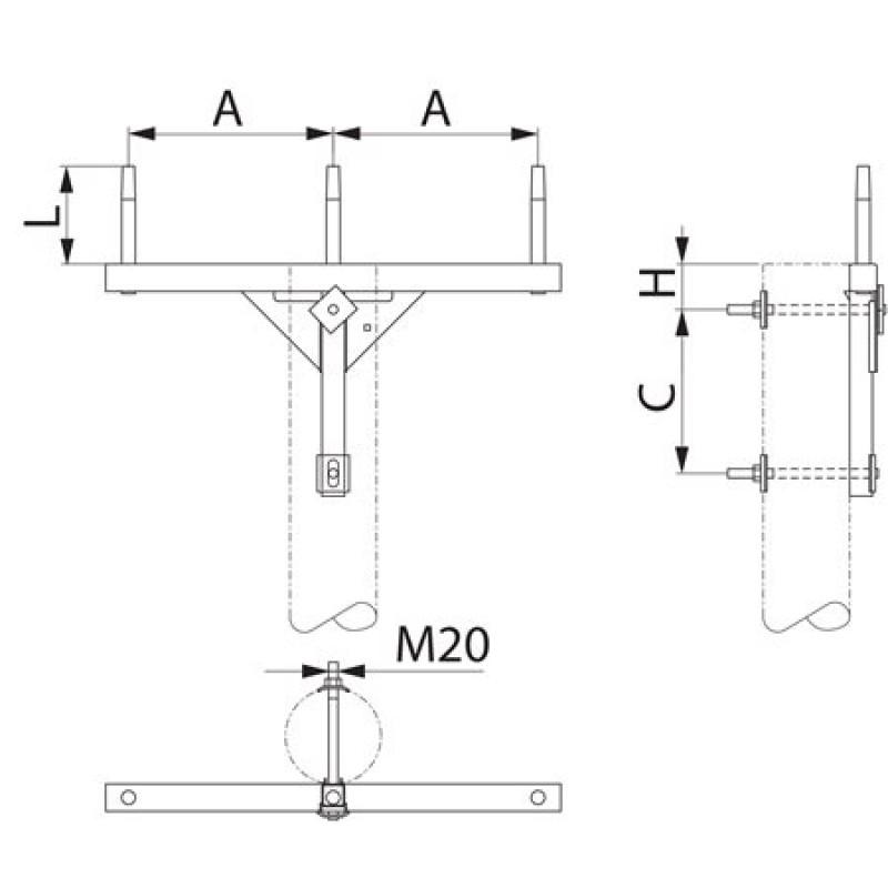 Траверса одноланцюгова проміжна SH151.0