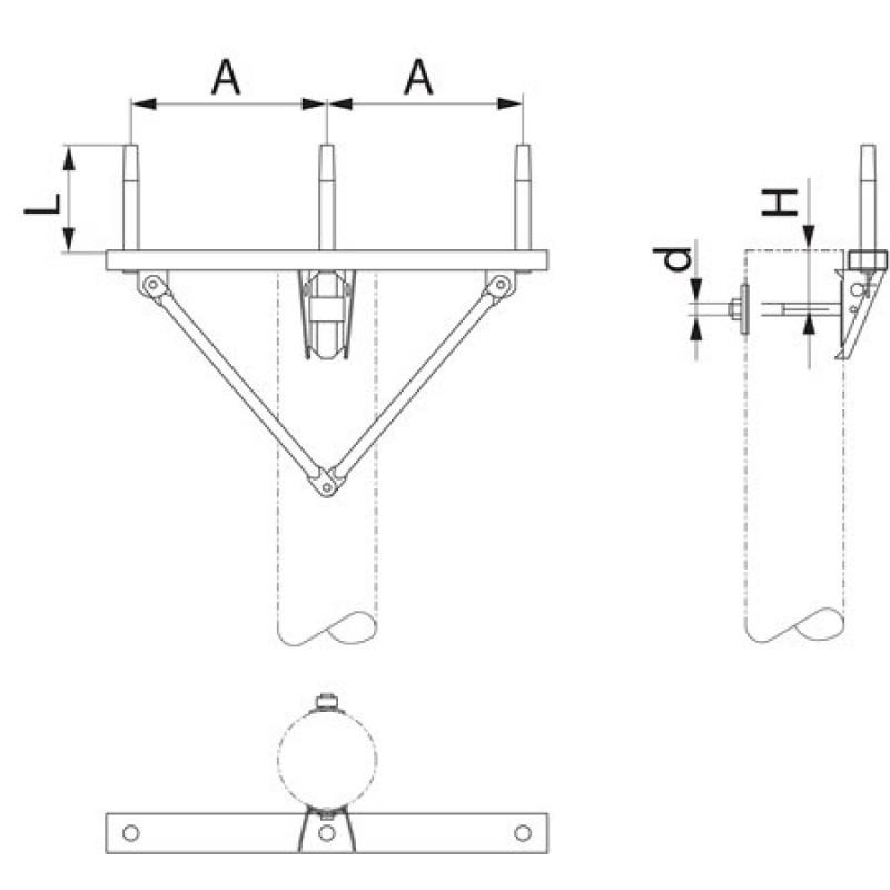 Траверса одноланцюгова проміжна SH151
