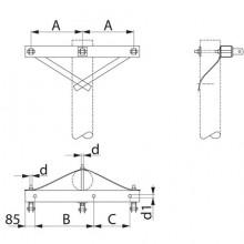 Траверса одноланцюгова анкерна  SH155