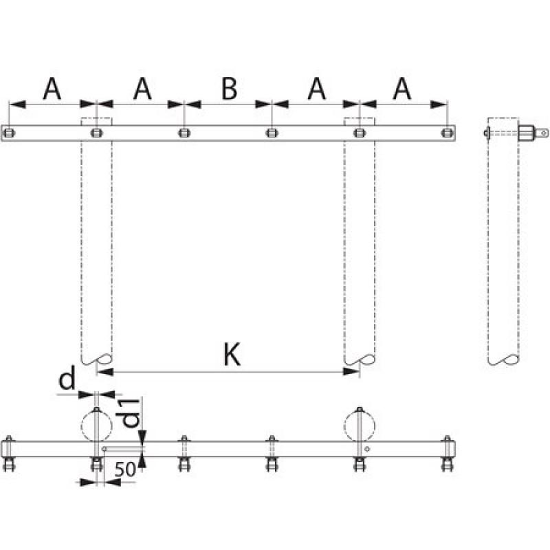 Траверса  дволанцюгова  кінцева SH176.1