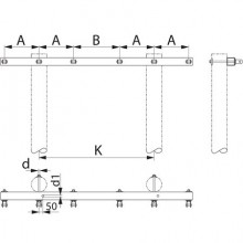 Траверса дволанцюгова анкерна  SH176