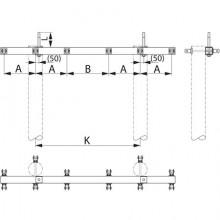 Траверса  дволанцюгова  анкерна SH177