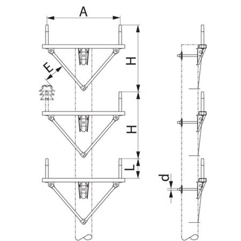 Траверса  дволанцюгова проміжна SH181