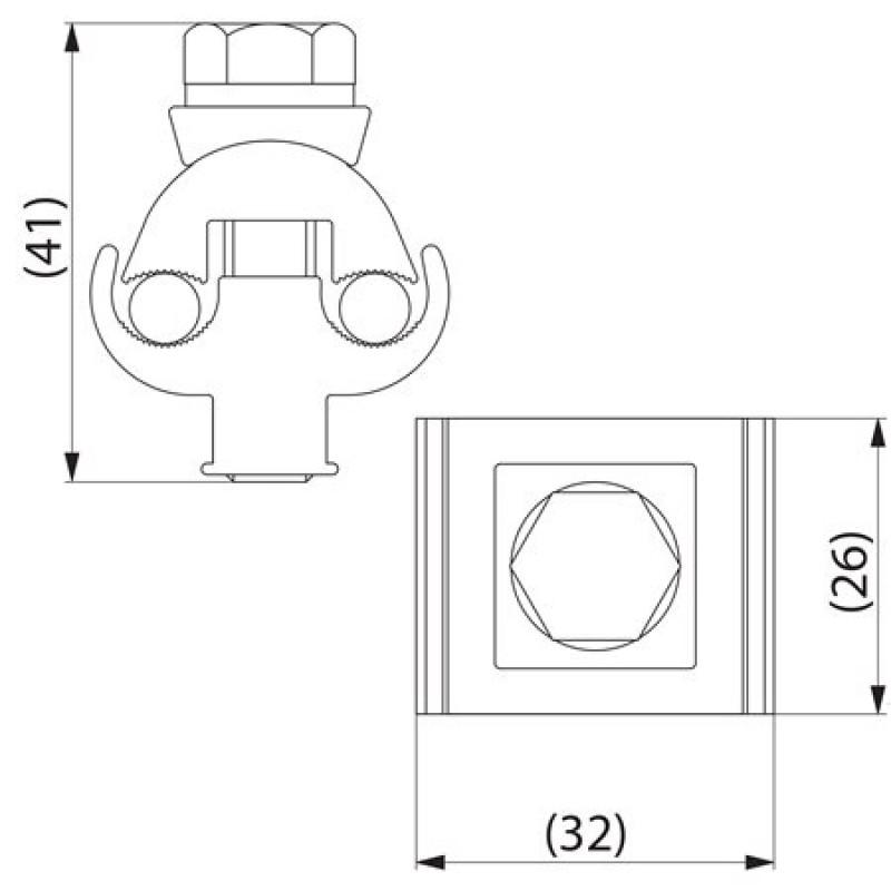 Затискач плашковий з'єднувальний SL2.11