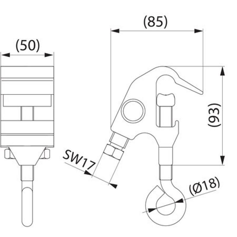 Затискач відгалужувальний оперативний SL30.1