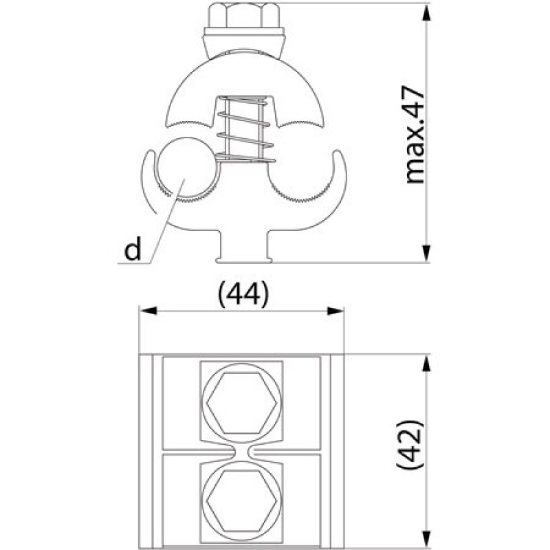 Затискач плашковий з'єднувальний SL4.25