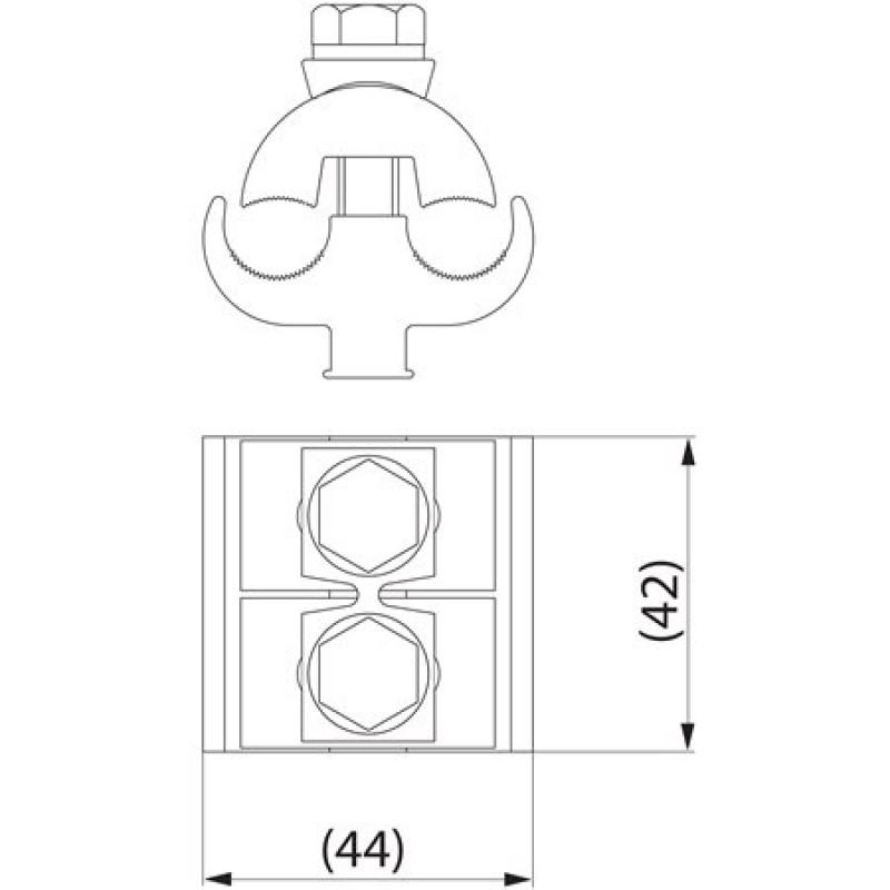 Затискач плашковий з'єднувальний SL4.26