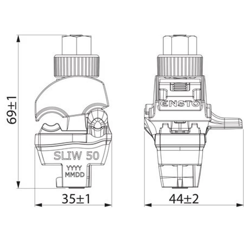 Затискач проколюючий  SLIW50