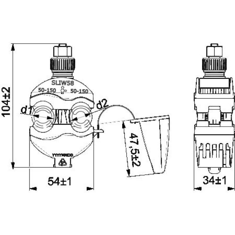 Затискач проколюючий  SLIW58