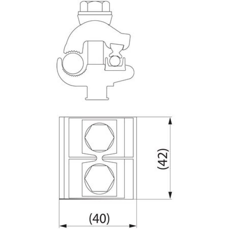 Затискач плашковий з'єднувальний SM2.21