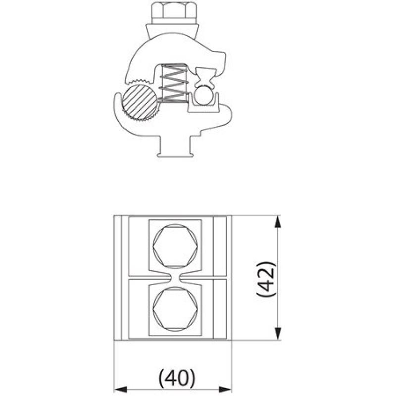 Затискач плашковий з'єднувальний SM2.25