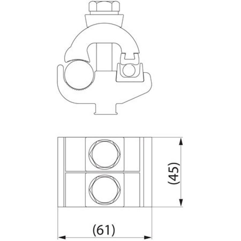 Затискач плашковий з'єднувальний SM4.21