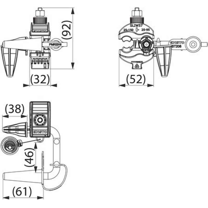 Комплект переносного заземления ST208.57